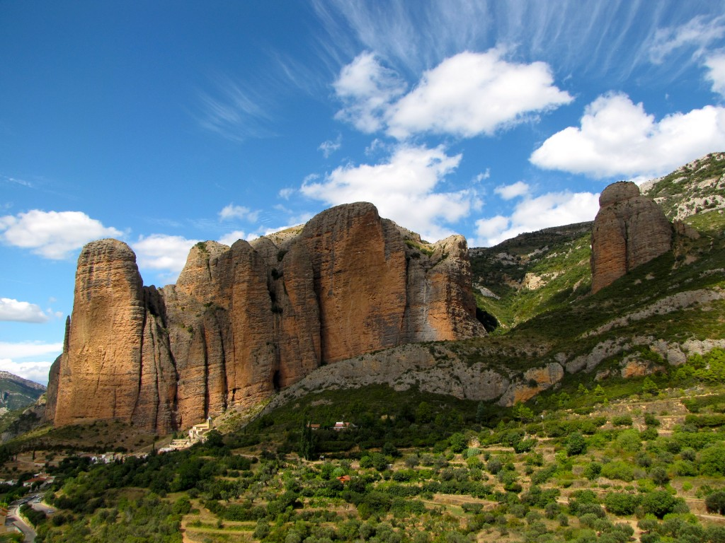 The Mallos Riglos (most of them anyway) on a pleasant September afternoon in 2010.